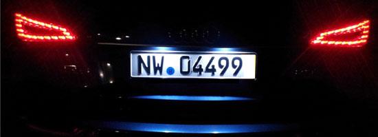 LED Kennzeichenbeleuchtung in Xenon White